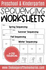 Sequencing Worksheets for Kindergarten