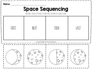 Space Sequencing Worksheets Moon