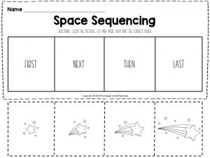 Space Sequencing Worksheets Shooting Star