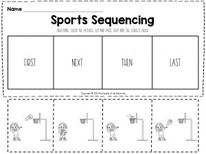 Sports Sequencing Worksheets Basketball