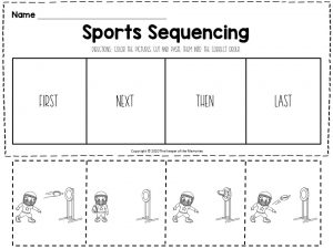 Sports Sequencing Worksheets Football