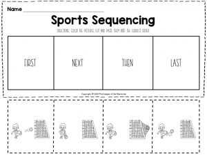Sports Sequencing Worksheets Soccer