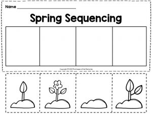 Flower Growing Spring Sequencing for Kindergartners
