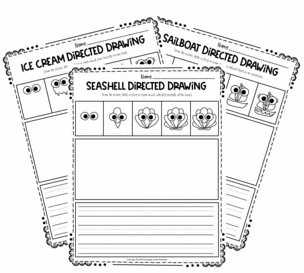 Summer Directed Drawing Printables