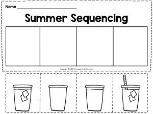 Making Lemonade Summer Sequencing for Kindergartners