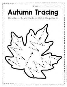 Tracing Fall Preschool Worksheets 1