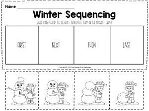 Winter Sequencing Worksheet