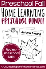 Fall Preschool Learn At Home Bundle