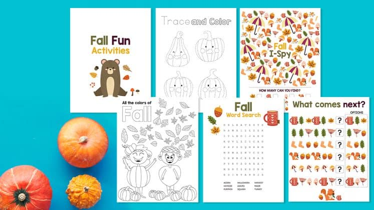 Free Printable Fall Activities for Kids