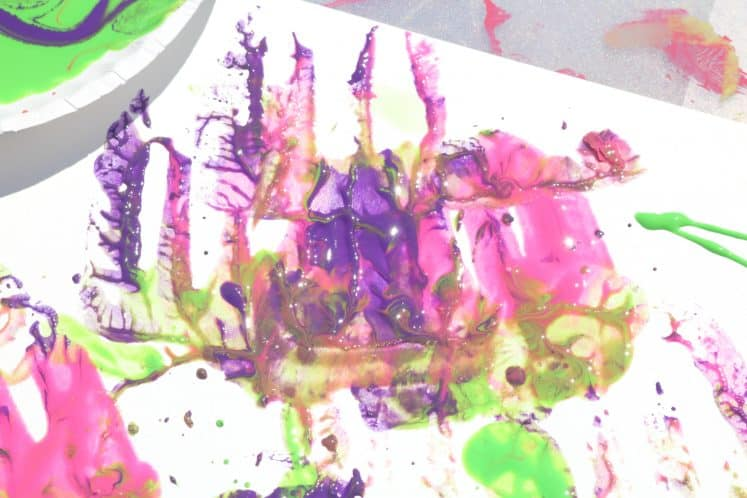 painting with kitchen utensils process art