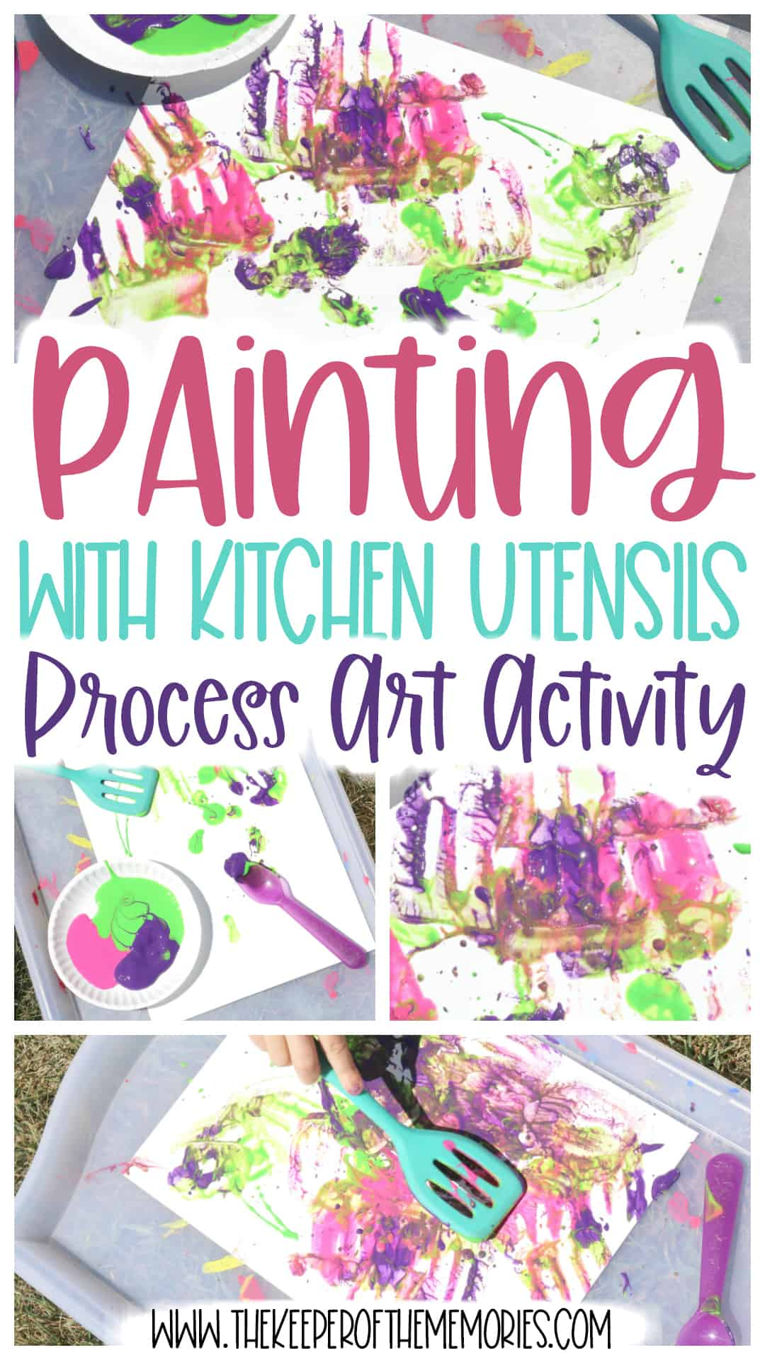 Reuse for Painting with Kitchen Utensils Activity