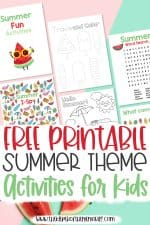 Free Printable Summer Activities for Kids