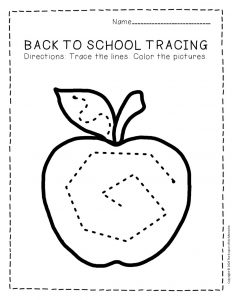 Tracing Back to School Preschool Worksheets 5