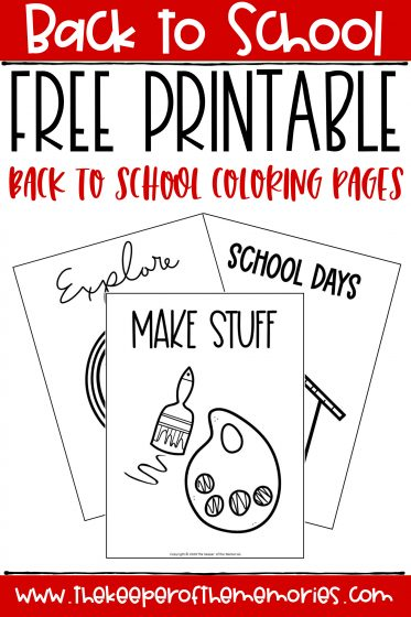 collage of back to school coloring pages with text: Back to School Free Printable Back to School Coloring Pages