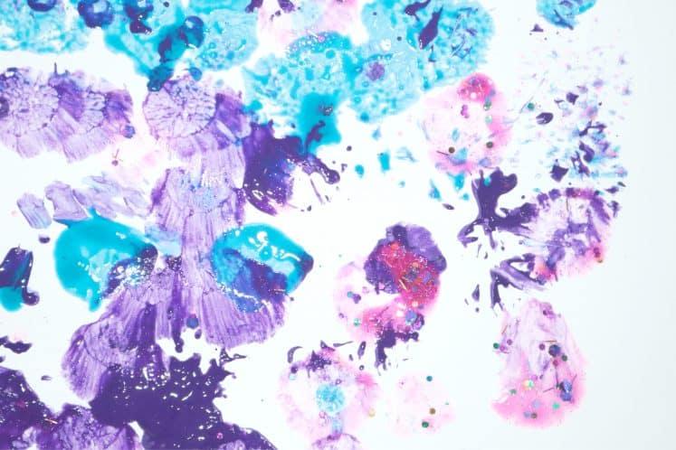 preschooler's dot painting