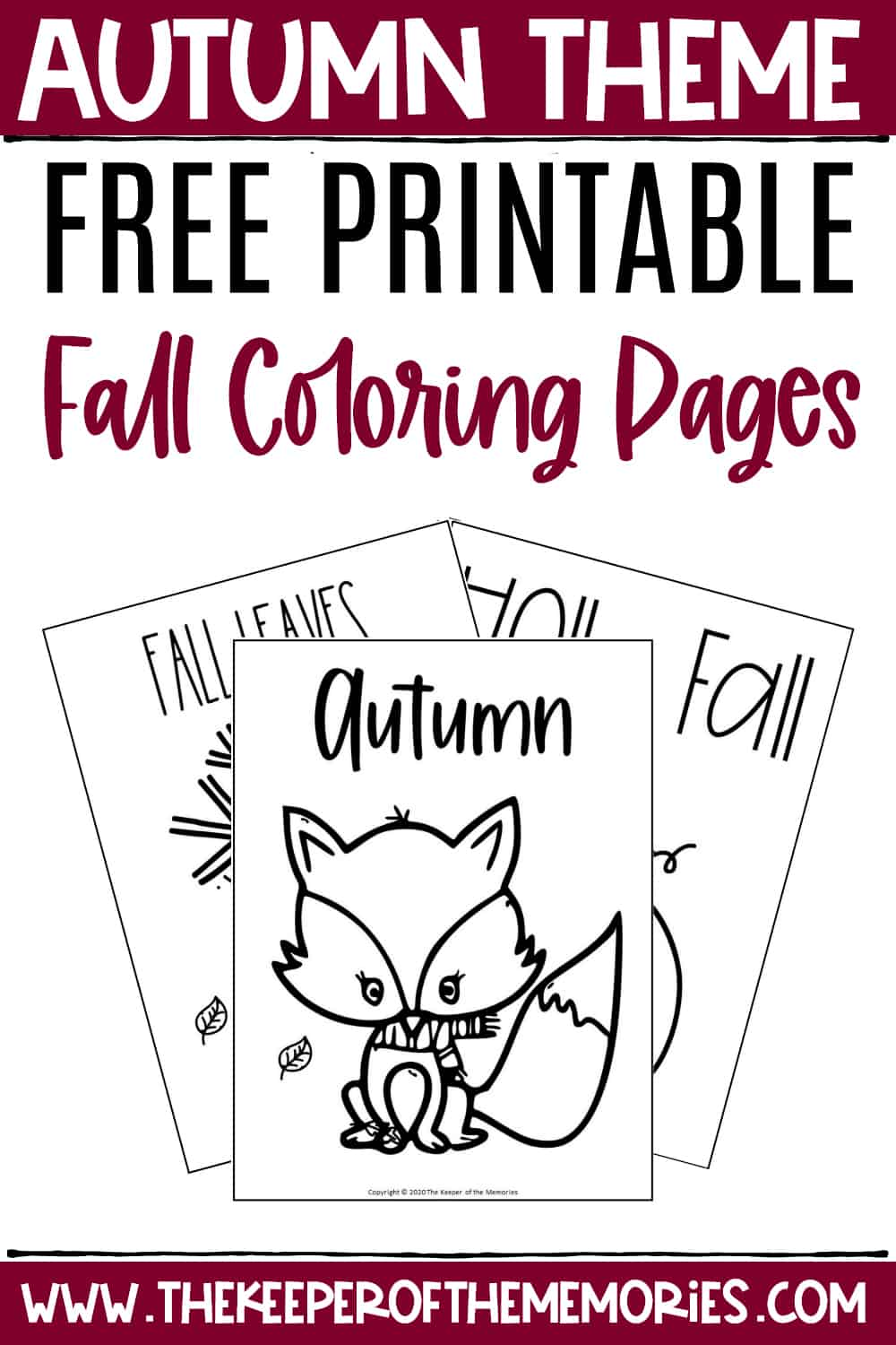 Free Printable Fall Coloring Pages The Keeper Of The Memories