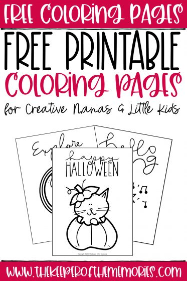 collage of free coloring pages with text: Free Coloring Pages Free Printable Coloring Pages for Creative Mamas & Little Kids