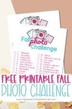 Free Printable Fall Scrapbooking Ideas Photo Challenge