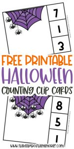 Free Printable Halloween Preschool Math Activity
