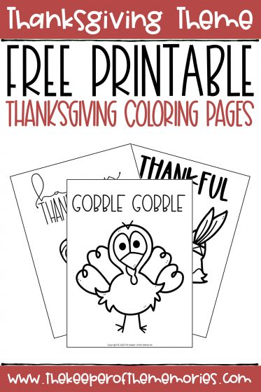 collage of Thanksgiving Coloring Pages with text: Thanksgiving Theme Free Printable Thanksgiving Coloring Pages
