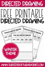 Free Printable Winter Directed Drawing