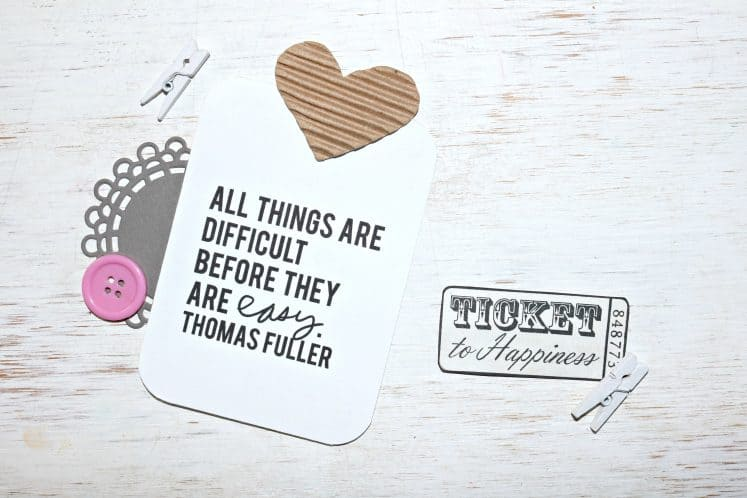 inspiration box card with motivational quote
