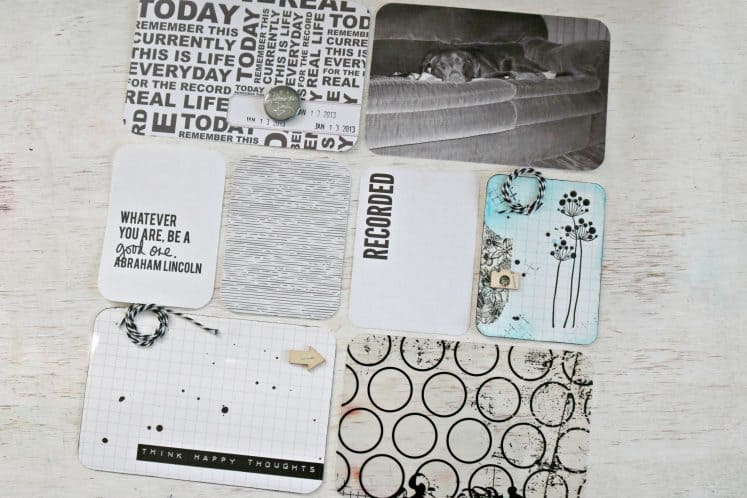 scrapbook layout made using pocket pages