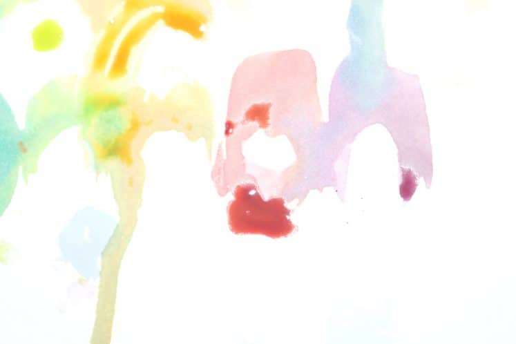 child's watercolor resist painting