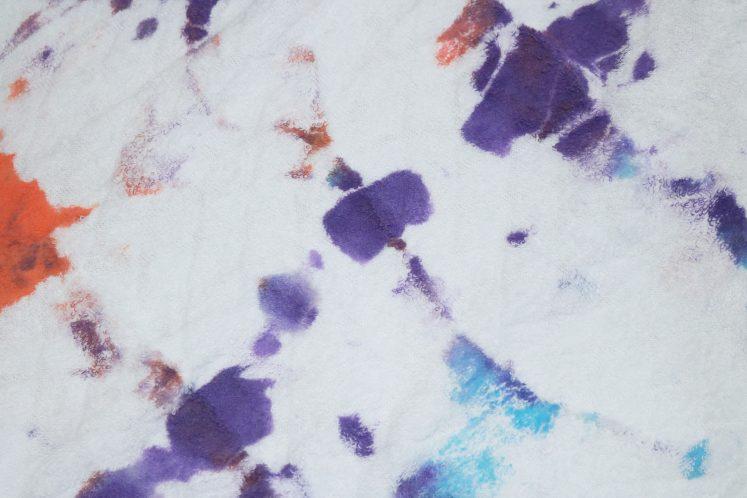 child's tie-dye art