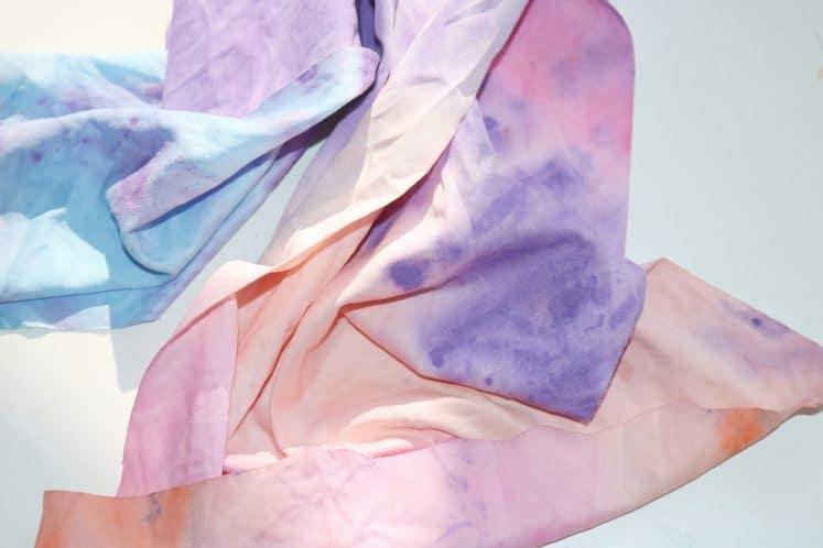 piece of tie-dye fabric
