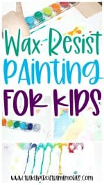 Quick & Easy Wax Resist Painting for Kids