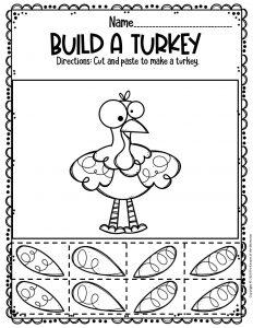 Build A Turkey Free Printable Turkey Worksheets