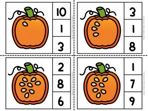 Counting Pumpkin Seeds Math Activities for Preschoolers