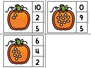 Counting Pumpkin Seeds Math Activities for Preschoolers