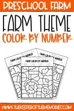 Color by Number Farm Preschool Worksheets