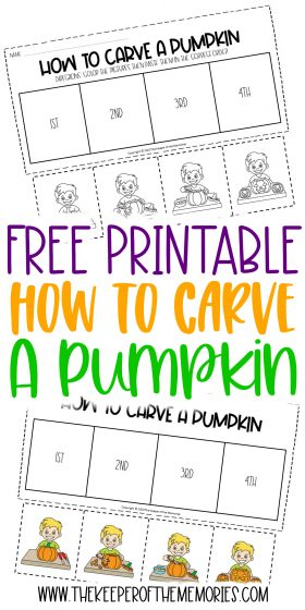 How to Carve a Pumpkin printables with text: Free Printable How to Carve a Pumpkin