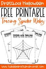 Spider Webs Preschool Halloween Tracing Worksheets