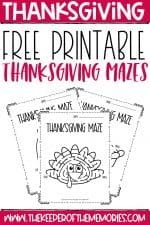 Free Printable Thanksgiving Mazes