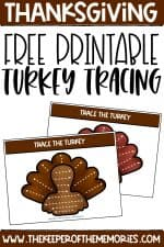 Free Printable Tracing Turkeys Thanksgiving Preschool Printables