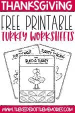Free Printable Turkey Worksheets
