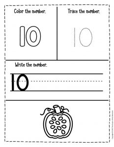 Counting Pumpkin Seeds Halloween Worksheets for Preschool 10