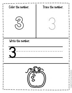 Counting Pumpkin Seeds Halloween Worksheets for Preschool 3