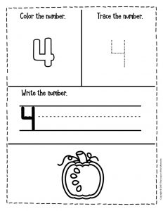 Counting Pumpkin Seeds Halloween Worksheets for Preschool 4