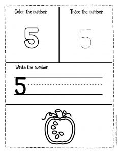 Counting Pumpkin Seeds Halloween Worksheets for Preschool 5