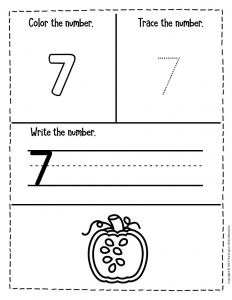 Counting Pumpkin Seeds Halloween Worksheets for Preschool 7