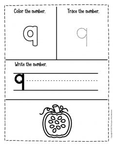 Counting Pumpkin Seeds Halloween Worksheets for Preschool 9