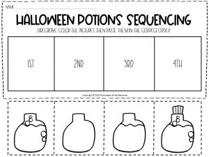 Sequencing Halloween Preschool Worksheets 1