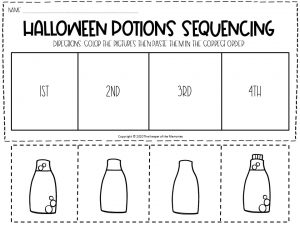 Sequencing Halloween Preschool Worksheets 2