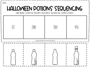 Sequencing Halloween Preschool Worksheets 3
