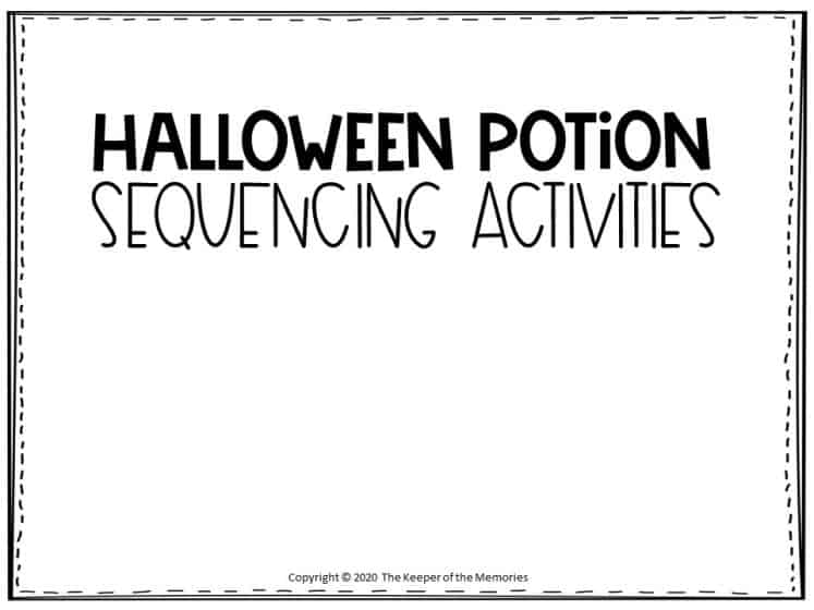 Sequencing Halloween Preschool Worksheets